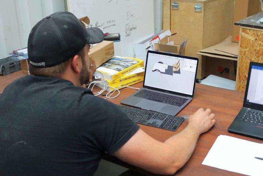Die Planung mit einem 3D Programm kann am Ende viel Zeit und Material einsparen