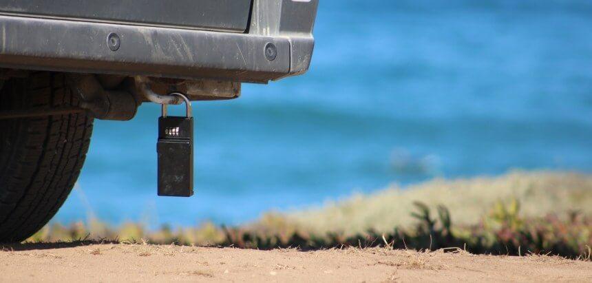 Schlüsseltresor für Surfer